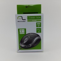 Mouse Multilaser Classic Box Optico Preto Usb