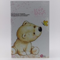 Caderno Maxima Cadernos Brochura 1/4 96fls Cd Furry Bears