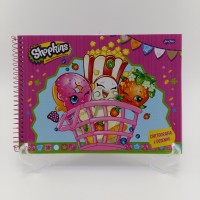 Caderno Jandaia Cartografia 96fls Cd Shopkins