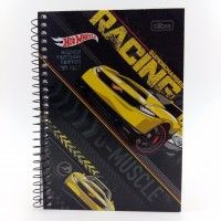 Caderno Tilibra 1/4 96fls Cd Hot Wheels
