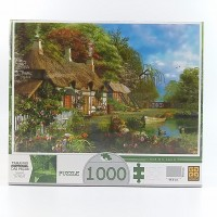Quebra Cabeca Grow 1000pcs Casa No Lago